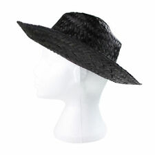 Chapeaux noirs en paille pour femme