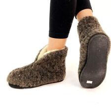 NATURAL WOOL SLIPPERS SHOES Warm Sheep Wool Womens Mens Christmas gift