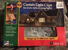 100 Curtain Light Clips For Icicle Style Or Swag Lights