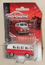 VW Bus T1 weiß-rot MAJORETTE Vintage Oldtimer Volkswagen bewegl. Heckklappe NEU