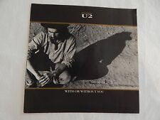 "U2 ""With Or Without You"" PICTURE SLEEVE!  MINT! PERFECT! ONLY NEW COPY ON eBAY!"