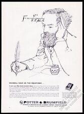 1959 James Clerk Maxwell portrait Potter & Brumfield relays vintage print ad
