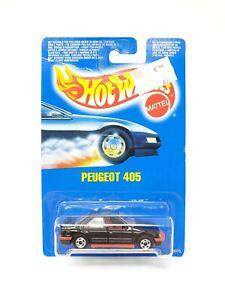 HOT WHEELS VINTAGE 1991 PEUGEOT 405 BLACK BLACKWALL #5670 NEW 1/64 DIECAST