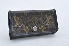 Louis Vuitton Monogramme Macassar Multicles 6 Clé Étui M60165 LV Authentique