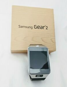 Samsung Gear 2 SM-R380 37mm Stainless Steel Case Black Rubber Band -...