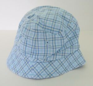 NWOT The Children's Place Bucket Hat Baby 6-12 Months Blue Plaid Chin Strap #9