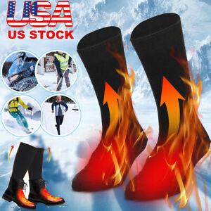 Winter Electric Thermal Heated Socks Feet Warmer Rechargeable Battery Men Women