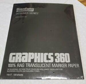 New Bienfang Graphics 360 100% Rag Translucent Marker Paper 14X17 , 100 sheets