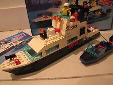 LEGO SYSTEM Electric vintage police boat # 6483 vintage 1994 mostly complete