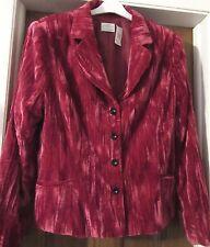 "Fashionable! 14 46"" B Wine/Pink Lovely Crushed Velveteen Blazer-So Chic"