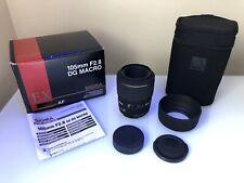 Sigma 105mm f/2.8 D DG MACRO Lens - FOR NIKON +Bag +Accessories +Box +Manual