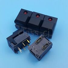 5Pcs PB86 Black Momentary Push Button Tact Switch 6Pin DIP SPDT PCB Mount