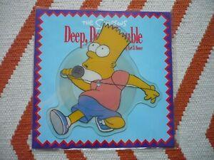"The Simpsons Deep, Deep Trouble 7"" Shaped Picture Disc Vinyl UK 1991 Single"