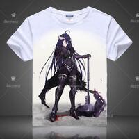Anime Overlord Albedo T-shirt Short Sleeve Unisex TEE Cosplay Otaku S-3XL#AL0415