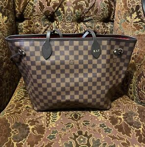 Authentic Louis Vuitton Neverfull MM Damier Ebene Tote Shoulder Bag N41358