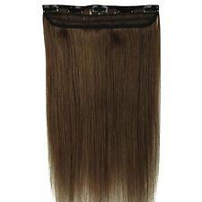 55cm Extension Clip Capelli Veri Umani 1pz 5 Clips AAAAA Remy Human Hair Allunga