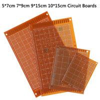 5Pcs Prototype Printed PCB Circuit Board Strip Breadboard For DIY SoldeNWUSc RAS
