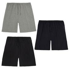 Mens PLUS BIG SIZE Jersey Shorts Lounge Pyjamas 100% Cotton Tie Waist Night Bed