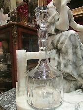 ancienne carafe whisky cristal de bayel taillé vintage 1950