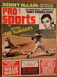 Pro Sports Magazine September 1969 Tony Conigliaro, Denny McLain, Mays & Rose