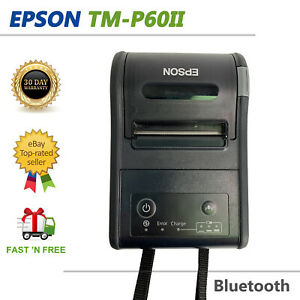 Epson TM-P60II POS Thermal Receipt Printer Bluetooth Case No Battery No Adapter