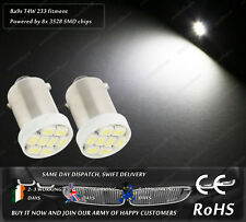 LED SMD Ba9s T4W Bayonet White Interior Sidelights Parking License Plate Bulbs