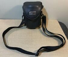 Vintage Leather Case Logic Camera Bag Case with Strap - Small