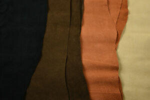 Pigskin split/suede lining 0.6mm Soft feel Good quality PIG Leather   4 Colours