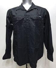 Columbia Black Botton Down Windbraker/poloshirt/jacket Men Long Sleeve Sz Medium