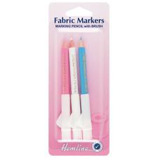 Dobladillo Dressmaker Tela marcado Lápices con cepillo conjunto de 3