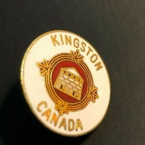 Vintage Kingston Canada Pin Enamel Lapel Souvenir Eastern Ontario Canadian City