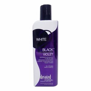 Devoted Creations White 2 Black Violet Skin Tanning Dark Bronzer Lotion - 260ml