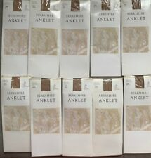 Berkshire Ankle High Sheer Anklet Color Nude One Size Lot Of 10