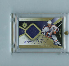 WAYNE GRETZKY 2004-05 UD ULTIMATE LIMITED OILERS GAME JERSEY AUTOGRAPH SP/5 AUTO