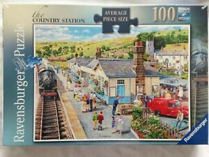 Brand New Ravensburger 100XXL Large Piece Jigsaw Puzzle - THE COUNTRY STATION
