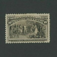 1893 United States Postage Stamp #237 Mint VF Hinged Original Gum