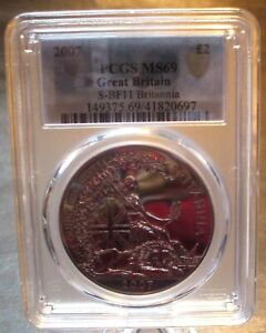 2007 Silver BRITANNIA PCGS MS69 - Very Hard To Find In MS