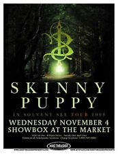 Skinny Puppy 2009 Gig Poster Seattle Washington Concert