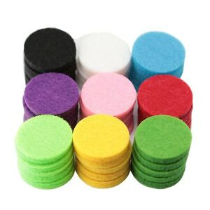 10-50pcs Essential Oil Diffuser Locket Necklace Refill Pads Aromatherapy Diff