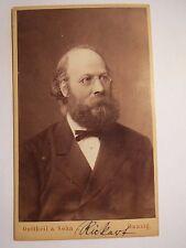 Danzig - Heinrich Rickert als Mann mit Bart & Brille im Anzug - Portrait / CDV