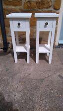 BESPOKE PAIR H60 x W25 x 30cm BEDSIDE HALL BEDROOM TABLE 1 DRAWER 1 SHELF