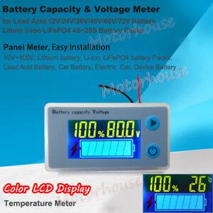 Lead Acid Lithium Li-ion Battery Capacity Level Indicator Electricity Voltmeter