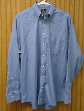 JOS A BANK Travelers Mens Blue/White Plaid L/S Dress Shirt 16-35