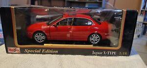 Maisto 1:18 Diecast 2001 JAGUAR X-TYPE Special Edition red #31621 four door