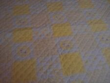 Gorgeous Antique Blanket / Quilt With Satin Trim....8.99..28 x 28.
