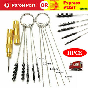 11pcs Airbrush Cleaning Needle Brush Accessories Kit for Spray Gun Cleaner