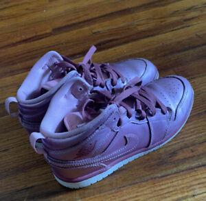 Air Jordan Nike 1 Mid SE Pink Rise Toddler Kids Girls Sneakers Size 3