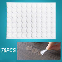 70pcs Set Round Double Sided Adhesive Transparent Sticky Tape Pad Craft