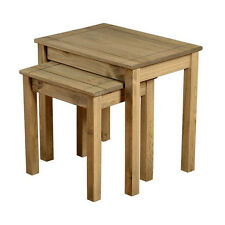 Panama Nest Of Tables Natural Wax