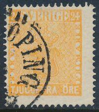Sweden Scott 10/Facit 10d2, 24ö orange Vapentyp, F fresh Used